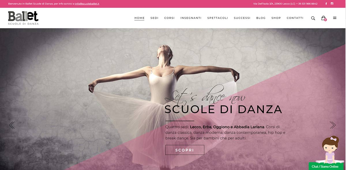 Home Page Scuole Ballet