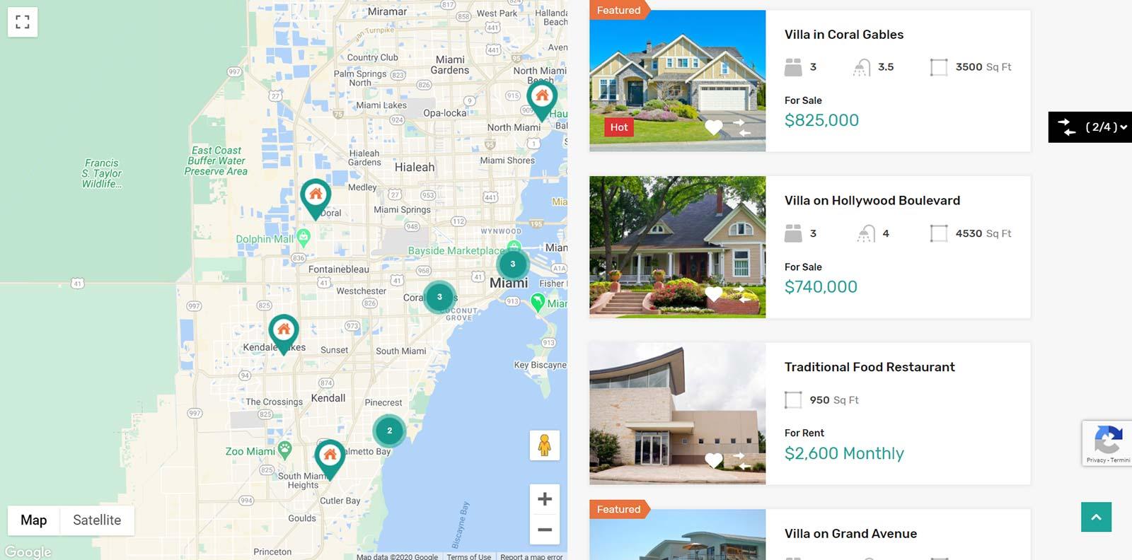 realizzazione Siti per agenzie immobiliari - Esempio di ricerca immobili su mappa
