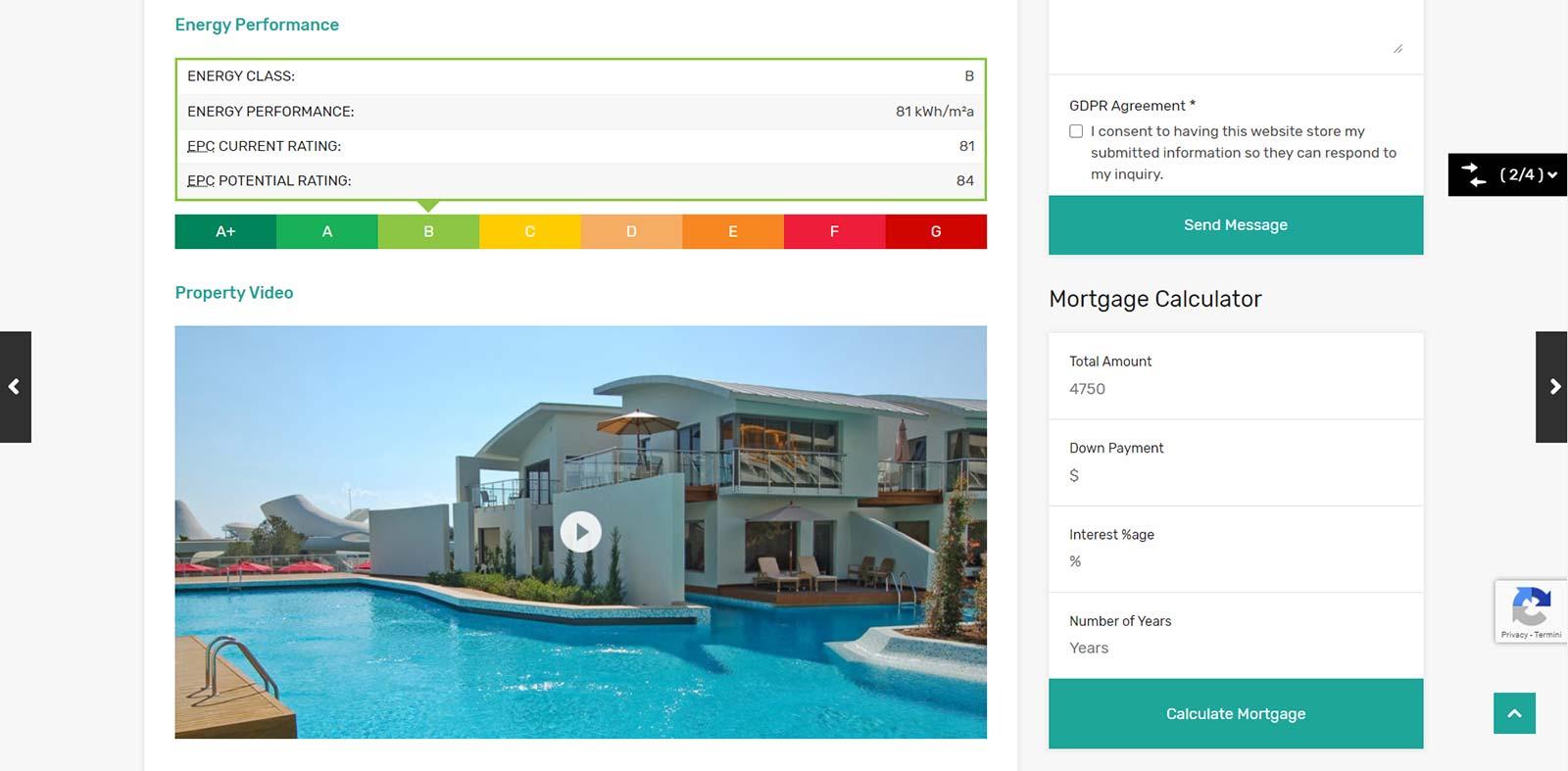 Classe Energetica realizzazione Siti per agenzie immobiliari